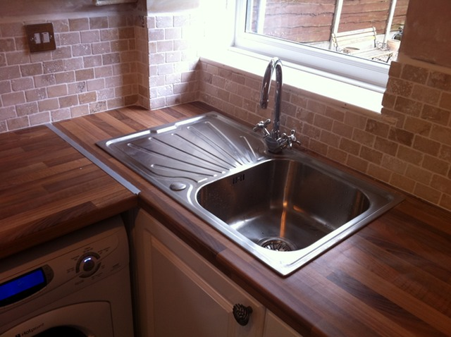 New wortops, splashback and sink installed | UrmstonHandyman 0161 ...